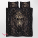 Native American Wolf 348 Quilt Bed Set