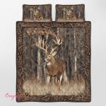 Deer Hunting 390 Quilt Bed Set