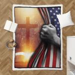 God - Bible With Bright Cross 143 Shepra Blanket
