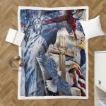 One Nation Under God American Patriotism Eagle 255 Shepra Blanket