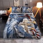 One Nation Under God American Patriotism Eagle 255 Quilt Bed Set