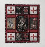 The Knights Templar Christian Warrior 115 Quilt Blanket