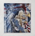 One Nation Under God American Patriotism Eagle 255 Quilt Blanket