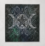 Wicca Triple Goddess 394 Quilt Blanket