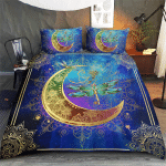 Wicca Native Dragonfly And Moon 407 Bedding Set