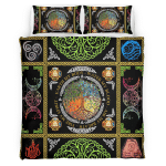 Wicca Tree Of Life Element Bedding Set