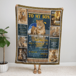 To My Son. When God Made Son 402 Fleece Blanket