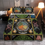 Wicca tree Of Life Element 406 Quilt Bed Set