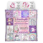 To My Granddaughter, I Love You So Much 400 Bedding set