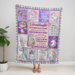 To My Granddaughter, I Love You So Much 400 Fleece Blanket