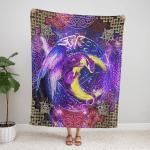 Wicca - Dragon Moon Magic 408 Fleece Blanket