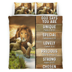 God Says You Are Lion & Lamb 413 Bedding Set