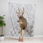Deer Hunting 418 Fleece Blanket