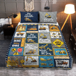 Heavy Equipment Boy, I Love You Quilt  404 Quilt Bed Set