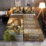God Says You Are Lion & Lamb 413 Quilt Bed Set