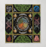 Wicca tree Of Life Element  406 Quilt Blanket