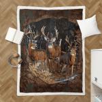 Deer Hunting 417 Shepra Blanket
