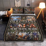 Papa. The Man, The Myth, The Legend. Deer Hunting 418 Quilt Bed Set