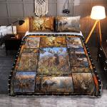 Deer Outside 350 Quilt Bed Set