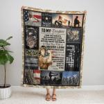 To my Daughter U.S.Army 438 Fleece Blanket