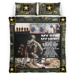 My Son, My Hero U.S. Army 437 Bedding set