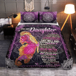 Mom To My Daughter, Butterfly 048 Quilt Bed Set
