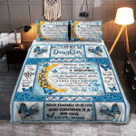 Mom To Daughter, With Brave Wings She Flies, Butterfly 053 Quilt Bed Set