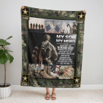 My Son, My Hero U.S. Army 437 Fleece Blanket