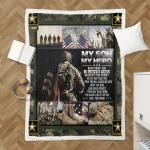 My Son, My Hero U.S. Army 437 Shepra Blanket