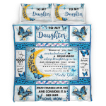 Mom To Daughter, With Brave Wings She Flies, Butterfly 053 Bedding set