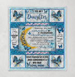 Mom To Daughter, With Brave Wings She Flies, Butterfly 053 Quilt Blanket