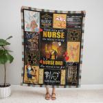 Behind Every Great Nurse Who Believes In Herself 435 Fleece Blanket
