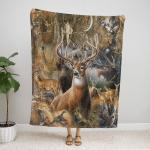 Beautiful Deer 427 Fleece Blanket