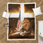 Lion Cross Lamb American 431 Shepra Blanket