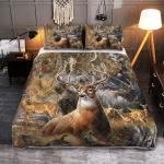 Beautiful Deer 427 Quilt Bed Set