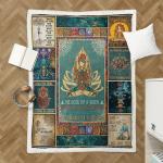 Yoga Namaste Mandala Style 405 Shepra Blanket