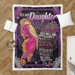 Mom To My Daughter, Butterfly 048 Shepra Blanket