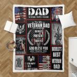 To My Veteran Dad 422 Shepra Blanket