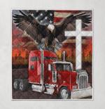 Jesus American Eagle Trucker 429 Quilt Blanket