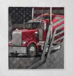 American Trucker 423 Quilt Blanket