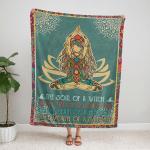 Yoga Namaste Mandala Style 405 Fleece Blanket v2