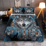 Native American Wolf 432 Quilt Bed Set