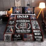 To My Veteran Dad 422 Quilt Bed Set