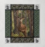 Deer Hunting 419 Quilt Blanket