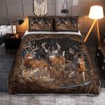 Deer Hunting 417 Quilt Bed Set