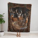 Deer Hunting 417 Fleece Blanket