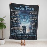 To my Daughter, i love you girl, love Dad Fleece Blanket