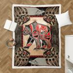 Native Bear Tattoo 421 Shepra Blanket