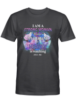 Memory - I am a strong woman because mmy husband in heaven is watching over me T-Shirt
