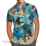 Bigfoot Surfing Hawaii Shirt H004